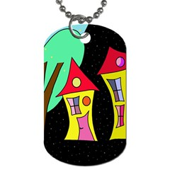 Two Houses 2 Dog Tag (two Sides) by Valentinaart