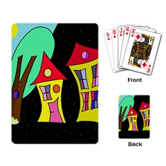 Two Houses 2 Playing Card by Valentinaart