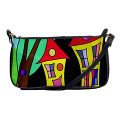 Two Houses 2 Shoulder Clutch Bags by Valentinaart