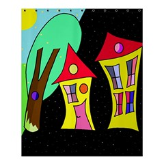 Two Houses 2 Shower Curtain 60  X 72  (medium)  by Valentinaart