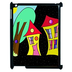 Two Houses 2 Apple Ipad 2 Case (black) by Valentinaart