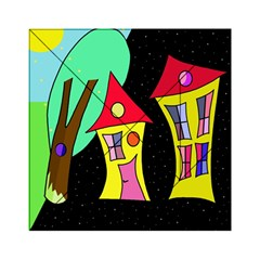 Two Houses 2 Acrylic Tangram Puzzle (6  X 6 ) by Valentinaart