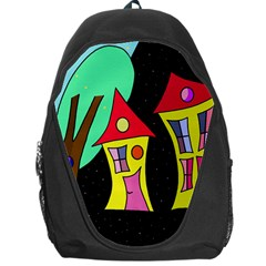 Two Houses 2 Backpack Bag by Valentinaart