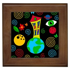 Playful Universe Framed Tiles by Valentinaart
