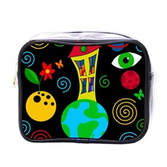 Playful Universe Mini Toiletries Bags by Valentinaart