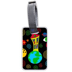 Playful Universe Luggage Tags (one Side)  by Valentinaart