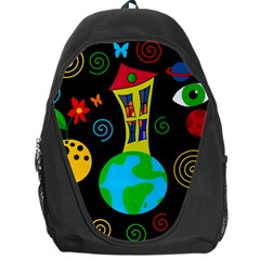 Playful Universe Backpack Bag by Valentinaart