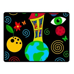 Playful Universe Double Sided Fleece Blanket (small)  by Valentinaart