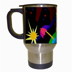 Colorful Universe Travel Mugs (white) by Valentinaart