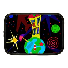 Colorful Universe Netbook Case (medium)  by Valentinaart