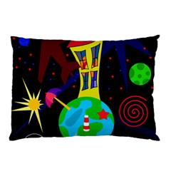 Colorful Universe Pillow Case by Valentinaart
