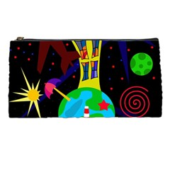 Colorful Universe Pencil Cases by Valentinaart