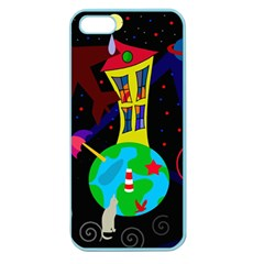 Colorful Universe Apple Seamless Iphone 5 Case (color) by Valentinaart