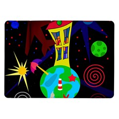 Colorful universe Samsung Galaxy Tab 10.1  P7500 Flip Case by Valentinaart