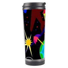 Colorful Universe Travel Tumbler by Valentinaart