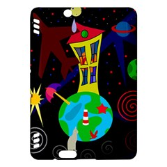 Colorful universe Kindle Fire HDX Hardshell Case by Valentinaart