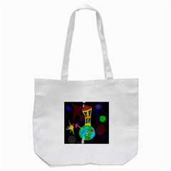 Colorful Universe Tote Bag (white) by Valentinaart