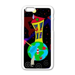 Colorful Universe Apple Iphone 6/6s White Enamel Case by Valentinaart