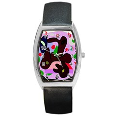 Decorative Abstraction Barrel Style Metal Watch by Valentinaart