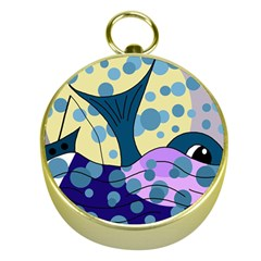 Whale Gold Compasses by Valentinaart