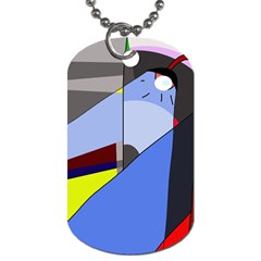 Street Light Dog Tag (one Side) by Valentinaart