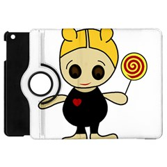 Cute Doll Girl Apple Ipad Mini Flip 360 Case by Valentinaart