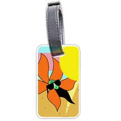 Sunflower On Sunbathing Luggage Tags (two Sides) by Valentinaart