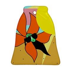 Sunflower On Sunbathing Ornament (bell)  by Valentinaart