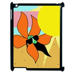 Sunflower On Sunbathing Apple Ipad 2 Case (black) by Valentinaart