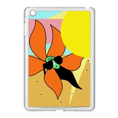 Sunflower On Sunbathing Apple Ipad Mini Case (white) by Valentinaart