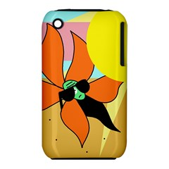 Sunflower On Sunbathing Apple Iphone 3g/3gs Hardshell Case (pc+silicone) by Valentinaart