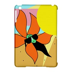 Sunflower On Sunbathing Apple Ipad Mini Hardshell Case (compatible With Smart Cover) by Valentinaart