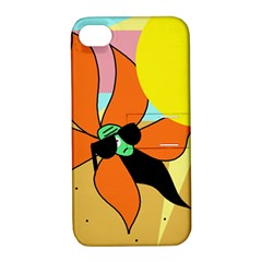 Sunflower On Sunbathing Apple Iphone 4/4s Hardshell Case With Stand by Valentinaart