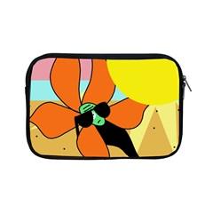 Sunflower On Sunbathing Apple Ipad Mini Zipper Cases by Valentinaart
