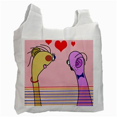 Love Recycle Bag (one Side) by Valentinaart