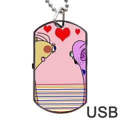 Love Dog Tag USB Flash (One Side) by Valentinaart