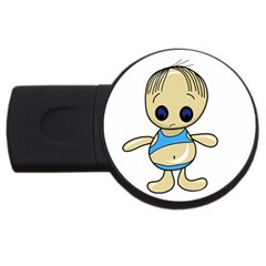 Cute Boy Usb Flash Drive Round (2 Gb)  by Valentinaart