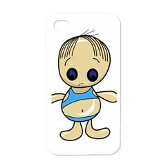 Cute Boy Apple Iphone 4 Case (white) by Valentinaart
