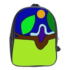 Caterpillar  School Bags (xl)  by Valentinaart