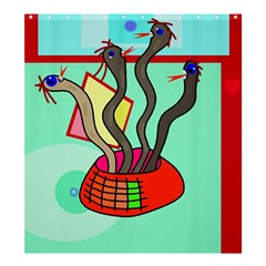 Dancing  Snakes Shower Curtain 66  X 72  (large)  by Valentinaart
