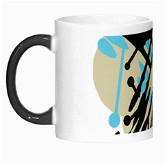 Abstract Decor   Blue Morph Mugs by Valentinaart