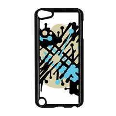 Abstract Decor   Blue Apple Ipod Touch 5 Case (black) by Valentinaart