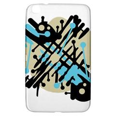 Abstract Decor   Blue Samsung Galaxy Tab 3 (8 ) T3100 Hardshell Case  by Valentinaart