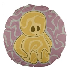 Cute Thing Large 18  Premium Round Cushions by Valentinaart