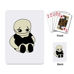 Halloween Sad Monster Playing Card by Valentinaart