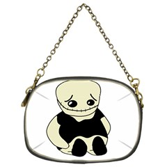 Halloween Sad Monster Chain Purses (one Side)  by Valentinaart