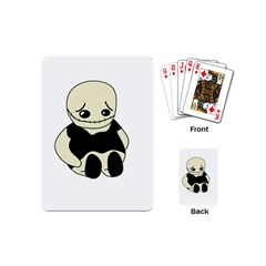 Halloween Sad Monster Playing Cards (mini)  by Valentinaart