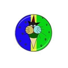Ice Cream Cat Hat Clip Ball Marker (4 Pack) by Valentinaart