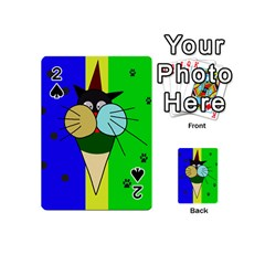 Ice Cream Cat Playing Cards 54 (mini)  by Valentinaart