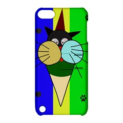 Ice Cream Cat Apple Ipod Touch 5 Hardshell Case With Stand by Valentinaart